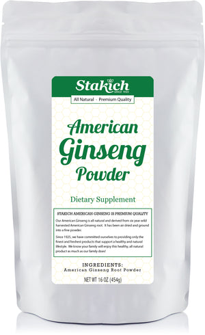 Case of American Ginseng Root Powder (1 lb) - Stakich