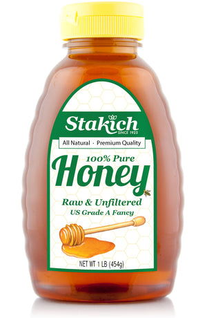 Case of Liquid Raw Honey (1 lb) - Stakich