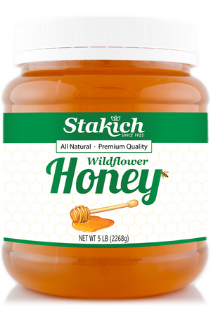Case of Liquid Raw Honey (5 lb) - Stakich