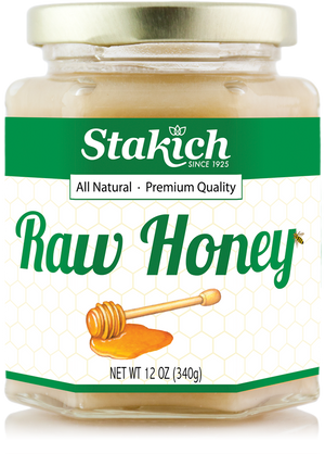 Case of Raw Honey (12 oz) - Stakich