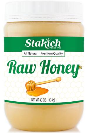 Case of Raw Honey (40 oz) - Stakich