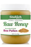 Stakich 5 lb Bee Pollen Enriched Raw Honey