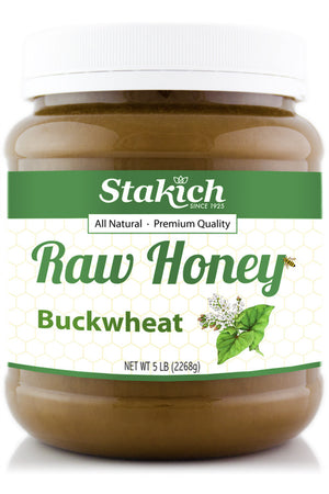 Case of Buckwheat Raw Honey (5 lb) - Stakich