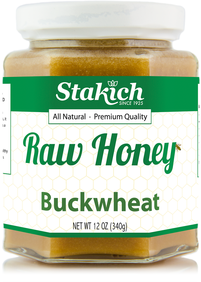 Case of Buckwheat Raw Honey (12 oz) - Stakich