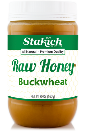 Case of Buckwheat Raw Honey (20 oz) - Stakich