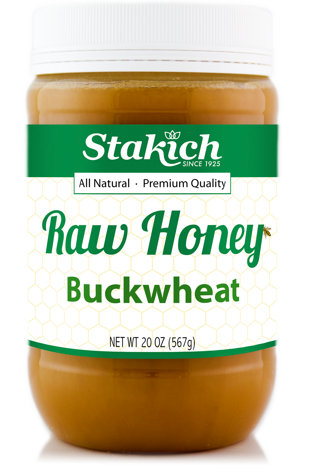 Case of Buckwheat Raw Honey (20 oz)