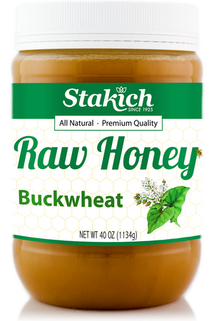 Case of Buckwheat Raw Honey (40 oz)
