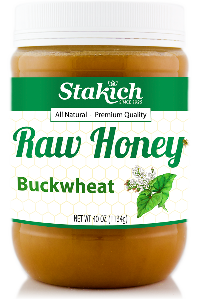 Case of Buckwheat Raw Honey (40 oz) - Stakich