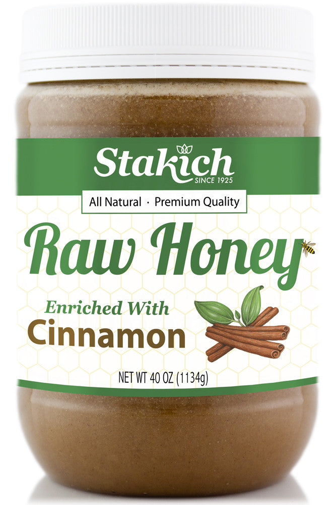 Cinnamon Enriched Raw Honey - Stakich