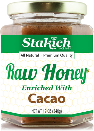Cacao Enriched Raw Honey - Stakich