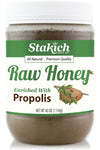Stakich 40 oz Propolis Enriched Raw Honey