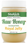 Stakich 40 oz Royal Jelly Enriched Raw Honey