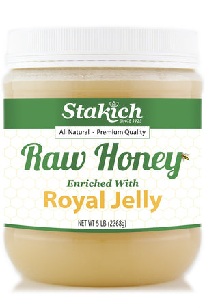 Stakich 5 lb Royal Jelly Enriched Raw Honey