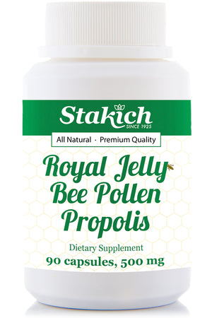 Royal Jelly, Bee Pollen & Propolis Capsules - 500mg