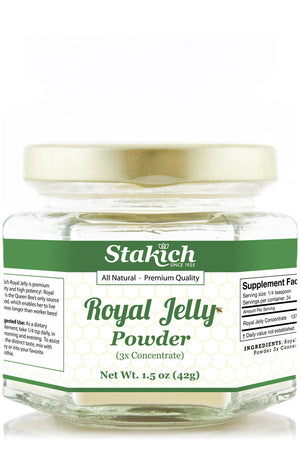 Case of Royal Jelly Powder (1.5 oz) - Stakich