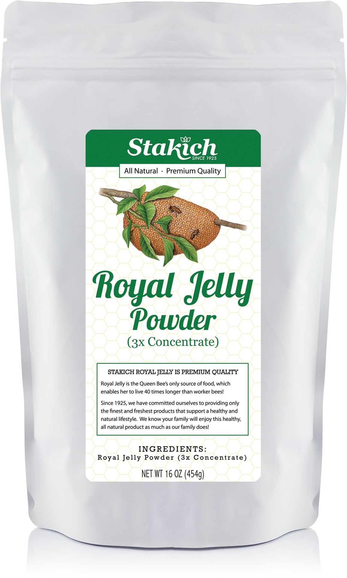 Case of Royal Jelly Powder (1 lb) - Stakich