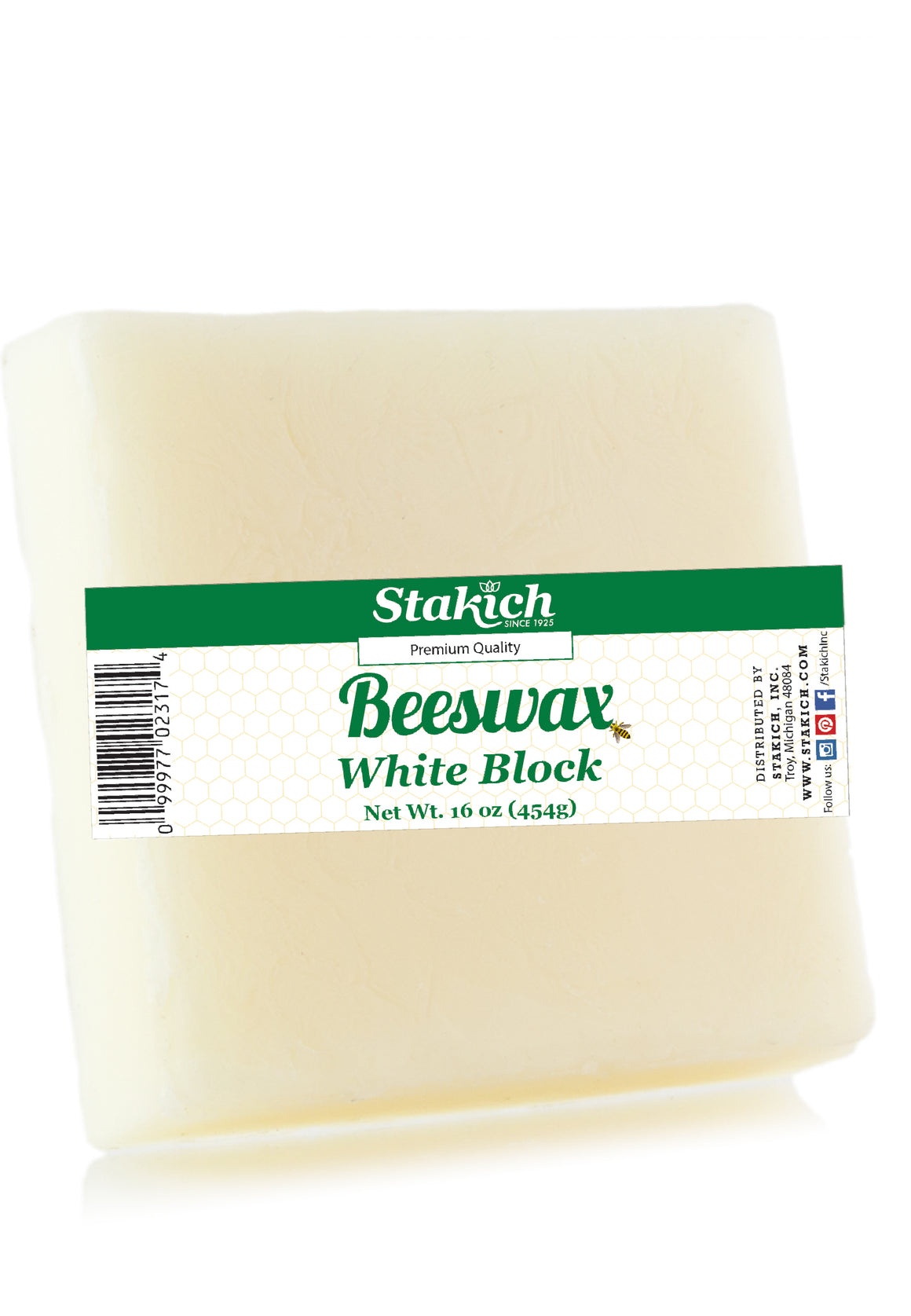 White Beeswax Blocks (40 lb)