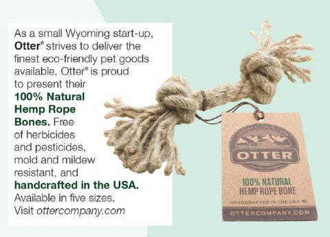hemp rope bone dog toy