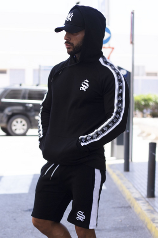 Mens oversized hoodie in black