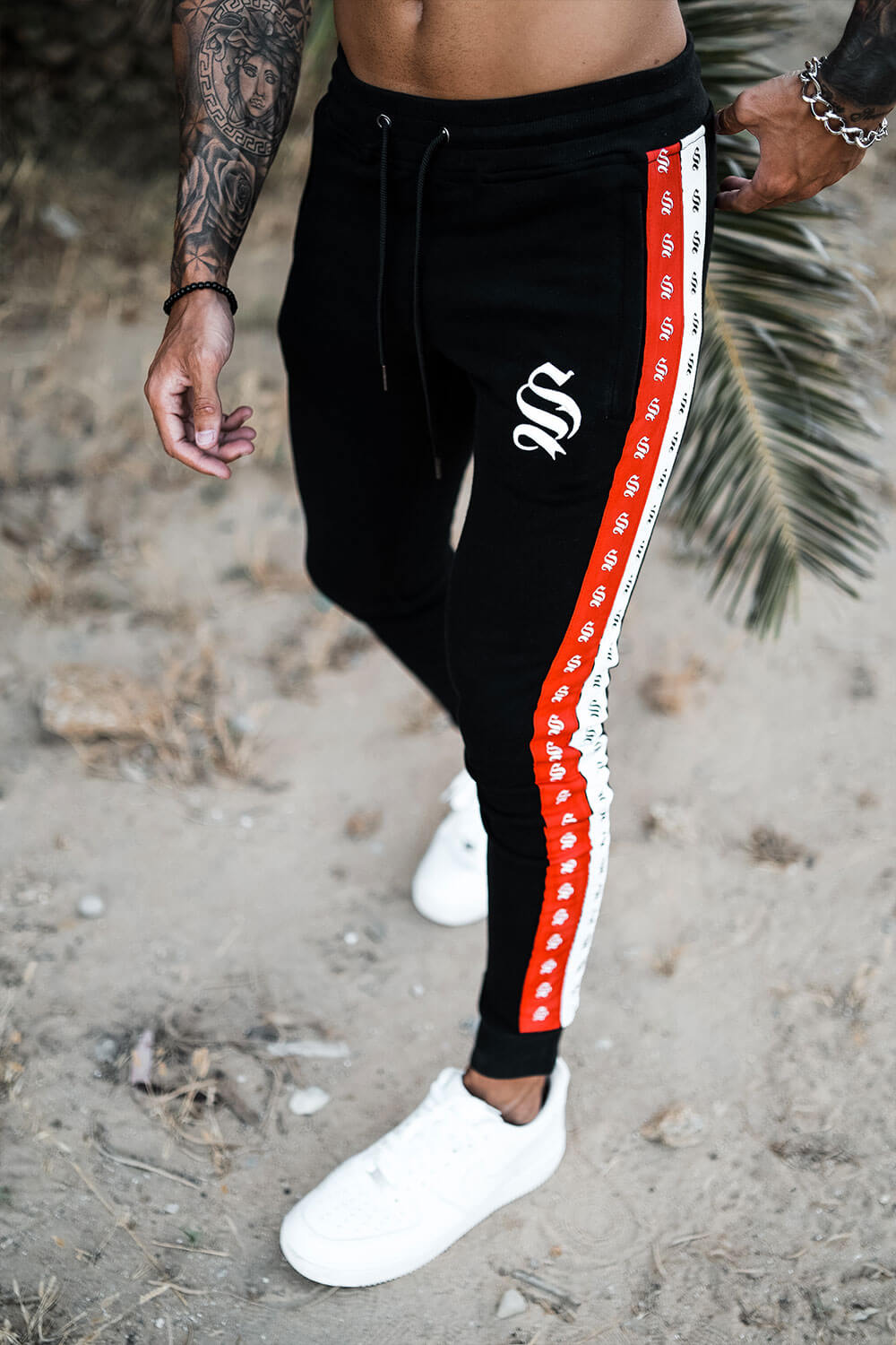Double Tape Joggers - Black