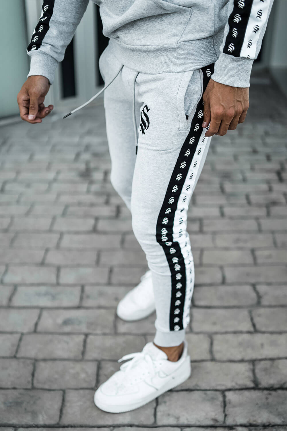 Double Tape Joggers - Grey