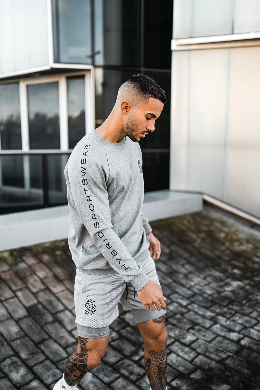 Hybrid Athlete Tech Sweater - Grey