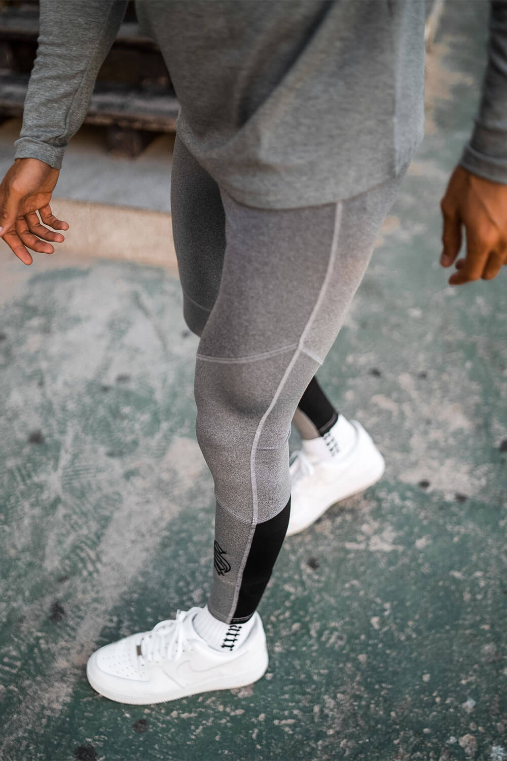 Hybrid Pro Running Tights - Grey