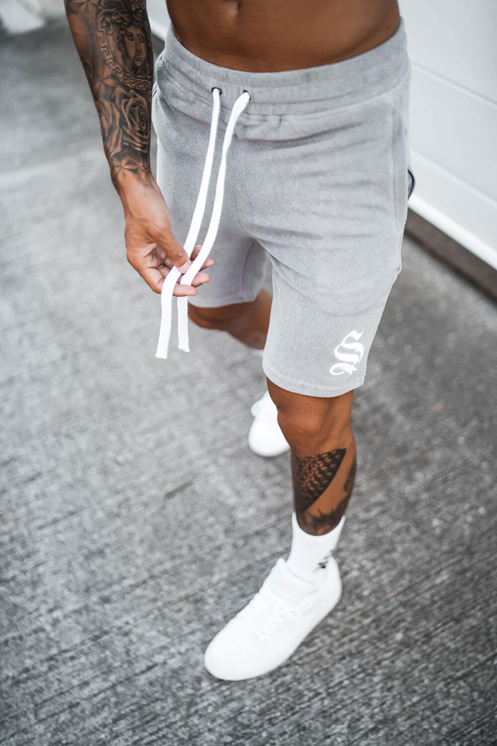 Towelling Shorts - Grey