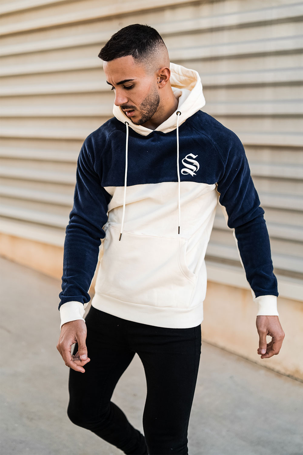 Tech Fleece Hoodie - Off White/Navy