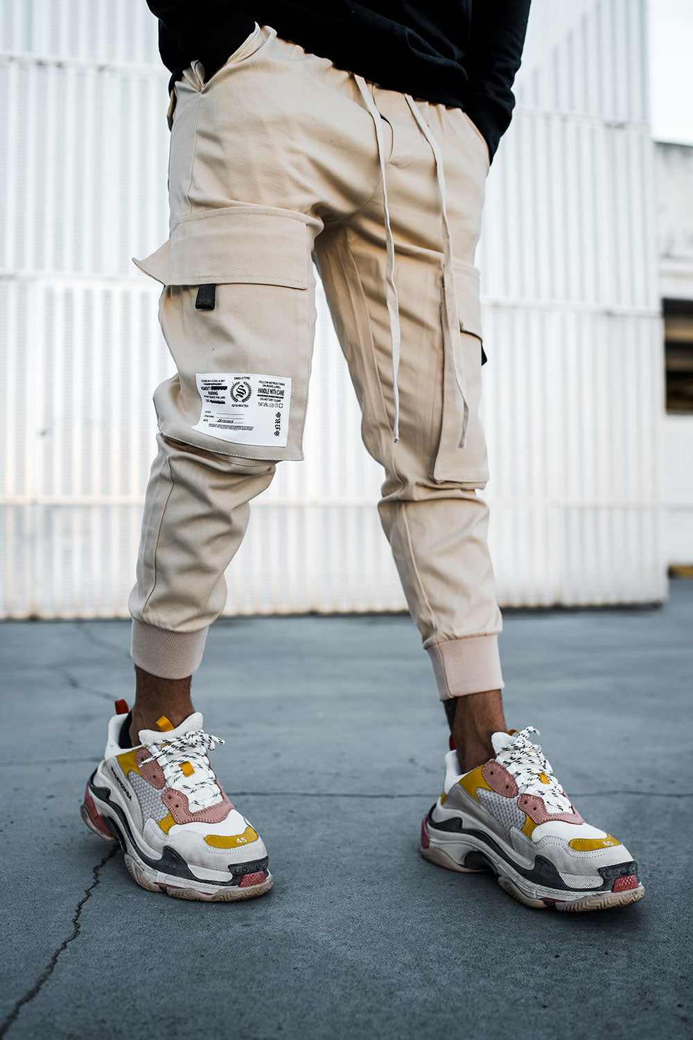 Cargo Utility Pants - Sand