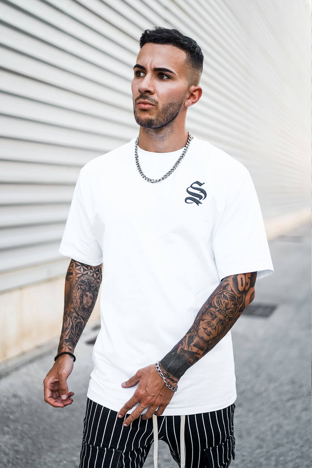 Drop Shoulder Core Tee - White