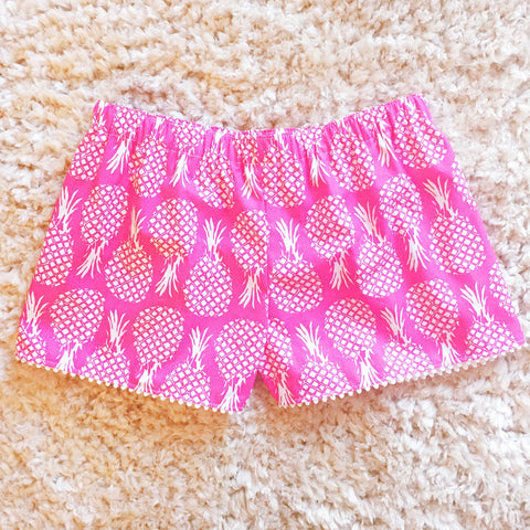 Hotty Pink Pineapple Shorts