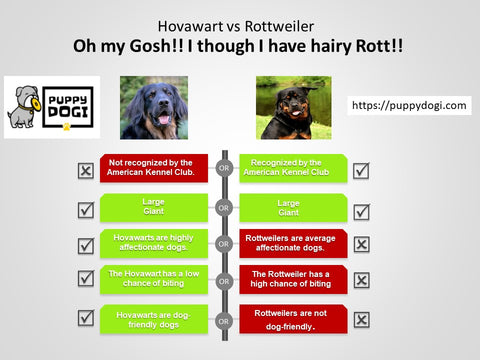 Hovawarts vs Rotwweiler comparision chart