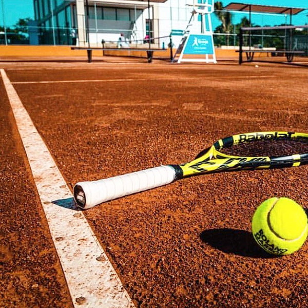 red caliclay system tennis