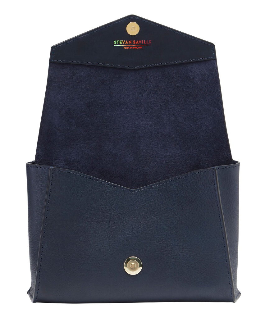 MEDIUM BOX BAG: NAVY