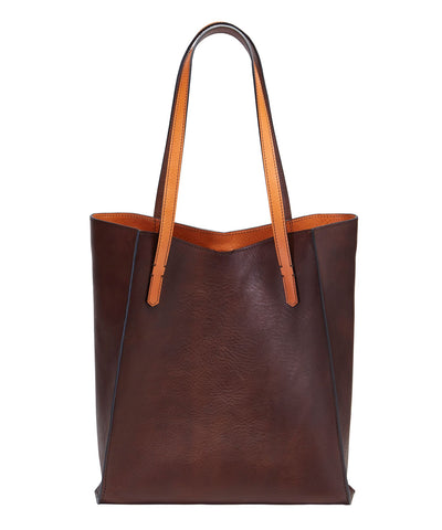 ONE PIECE TOTE- CHOCOLATE/TAN ARRAGOSTA