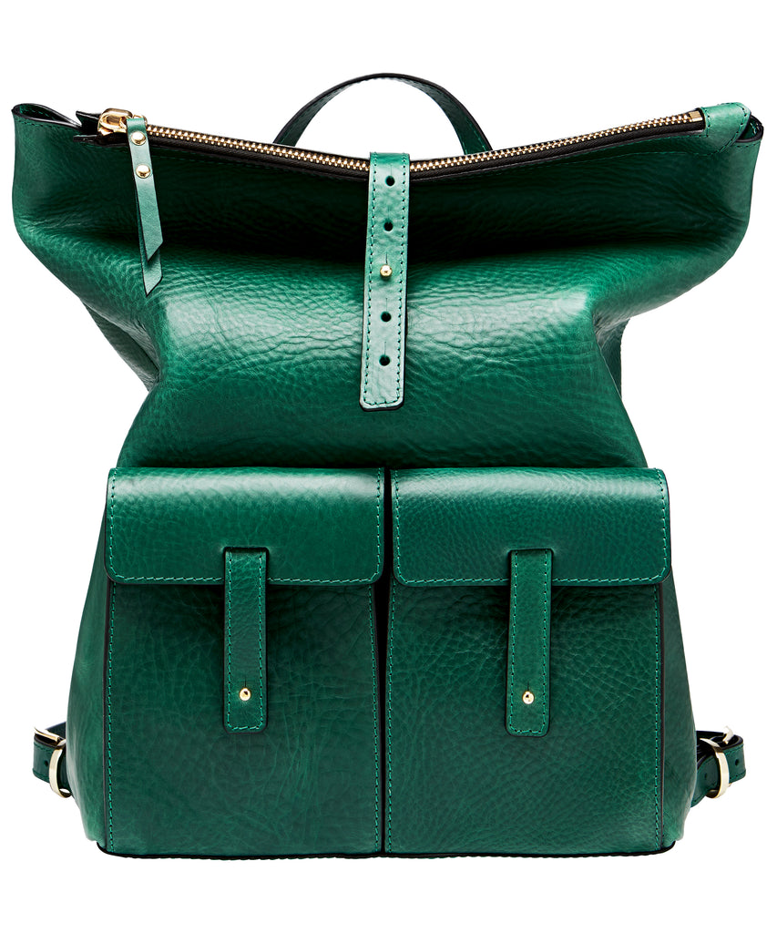 MEDIUM BACKPACK-DARK GREEN