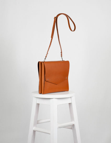 Tan Medium Bag To Back