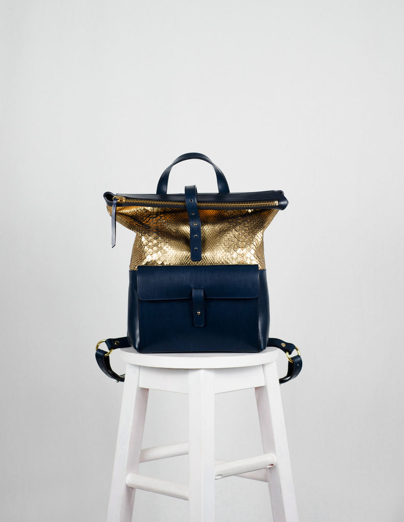 Golden Python Backpack