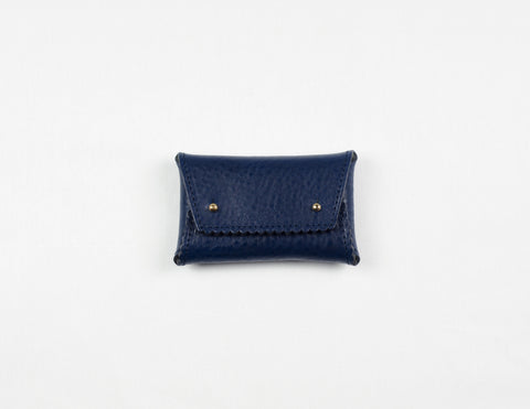 Navy Zig Zag One-Piece Wallet (Gold Lining)