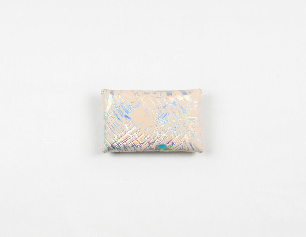 Holographic One-Piece Wallet (Pink Lamb Suede Lining)