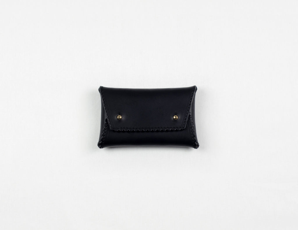 Black Zig Zag One-Piece Wallet (Gold Lining)