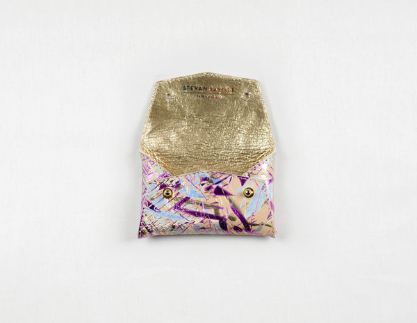 Holographic One-Piece Wallet (Gold Lining)