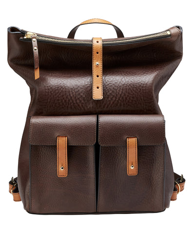 MEDIUM BACKPACK- CHOCOLATE/TAN EXCLUSIVELY AT LIBERTYLONDON.COM