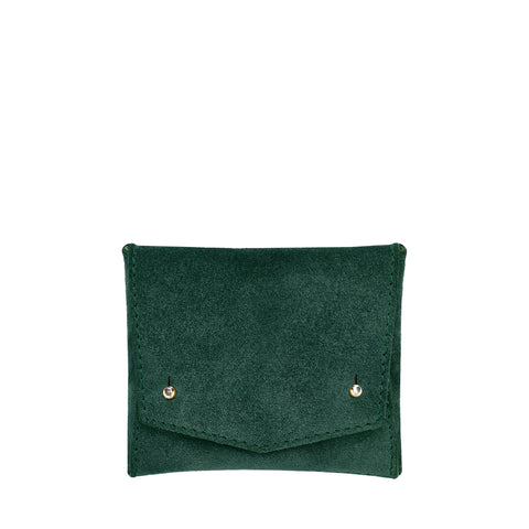 SQUARE WALLET: FOREST GREEN