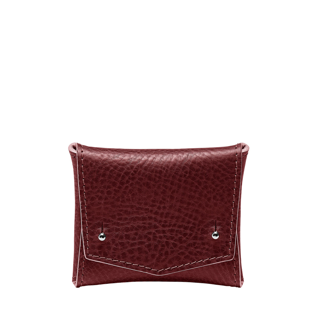 SQUARE WALLET: BURGUNDY
