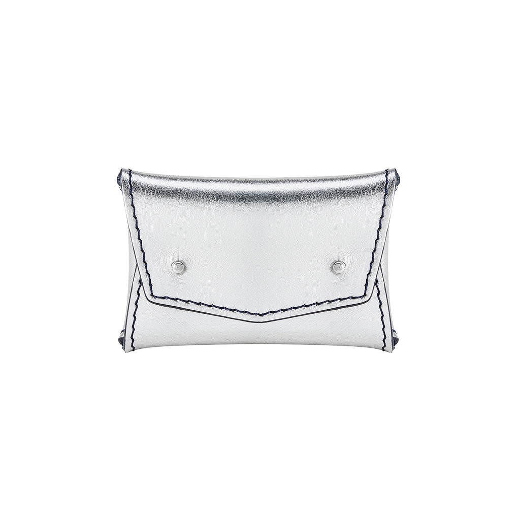 ONE PIECE WALLET: METALLIC SILVER