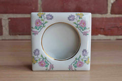 Andrea by Sadek Porcelain Picture Frame with Pink, Purple, and Yellow Flower Design