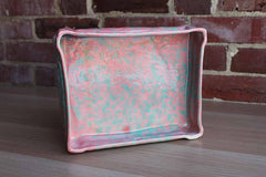 Artistic Pottery (California, USA) Turquoise and Pink Ceramic Vanity Tray