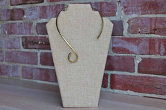 Solid Brass Organically Shaped Collar Necklace